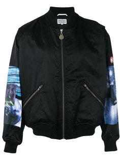 куртка-бомбер с контрастными рукавами C.E. CE