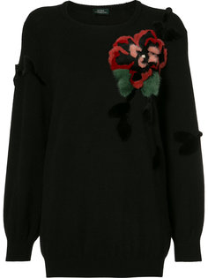 flower applique jumper Alena Akhmadullina