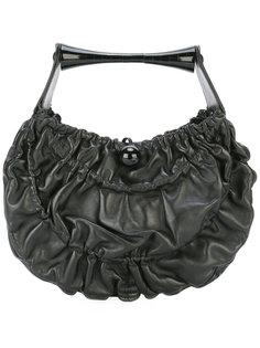 сумка-тоут с декоративными складками Giorgio Armani Vintage