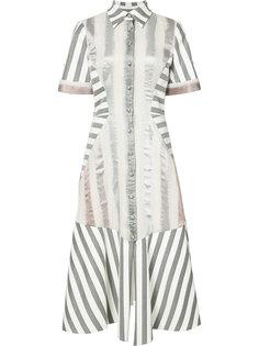 платье-рубашка в полоску Christian Siriano