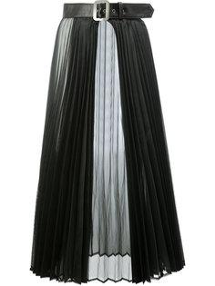 belted sheer pleated skirt Junya Watanabe Comme Des Garçons