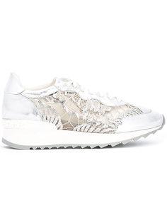 lace detail platform sneakers Casadei