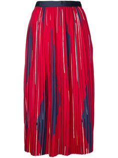 плиссированная юбка миди с принтом Cityshop
