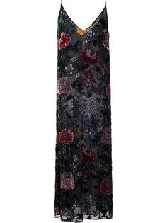 длинное платье с цветочным принтом Burnout Adam Lippes