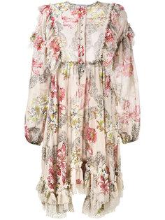 платье с цветочным рисунком и оборками Philosophy Di Lorenzo Serafini