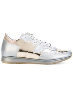 кроссовки с эффектом металлик Philippe Model