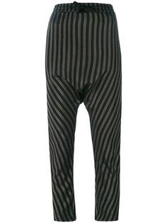 полосатые брюки с заниженным шаговым швом Nude