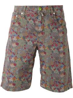 джинсовые шорты с цветочным принтом  Jacob Cohen