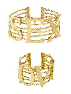 Комплект из двух браслетов SEX and LOVE Dolce & Gabbana Vintage
