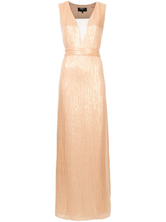 woven plunge column dress Paule Ka