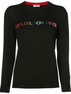 свитер с вышивкой Sonia Rykiel