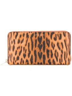 кошелек на молнии с леопардовым принтом  Sophie Hulme