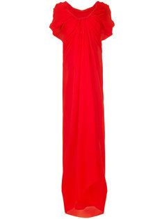 long draped woven dress Paule Ka