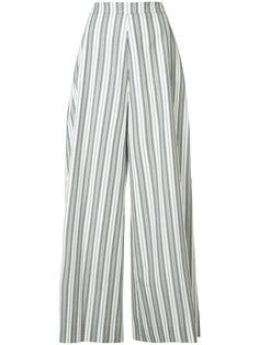 брюки-палаццо в полоску Christian Siriano