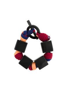 матерчатый браслет с квадратными звеньями Giorgio Armani Vintage