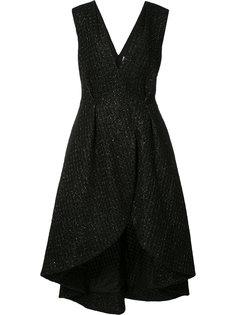 асимметричное платье с запахом Christian Siriano