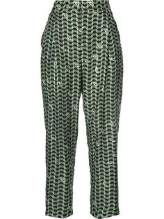 geometric print trousers Alena Akhmadullina