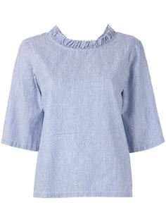 блузка в тонкую полоску с V-образным вырезом  Lareida