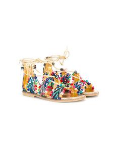 lace-up sandals  Quis Quis