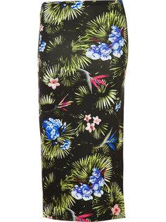 tropical print slit skirt Fleur Du Mal