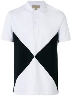 рубашка-поло с треугольными вставками Burberry