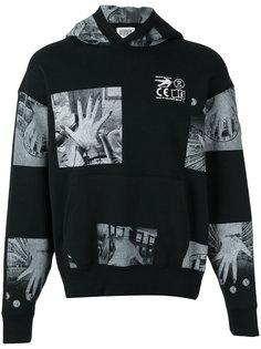patch print hooded sweatshirt C.E. CE