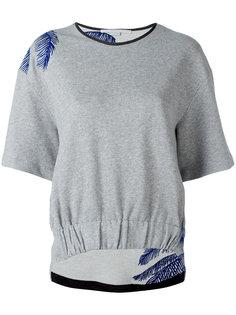 футболка с контрастной вышивкой Stella McCartney
