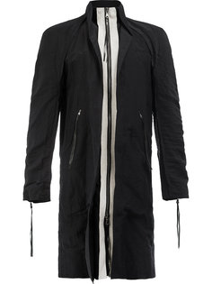 пальто на молнии с контрастной вставкой Cedric Jacquemyn