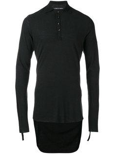 футболка-поло с асимметричным подолом  Cedric Jacquemyn