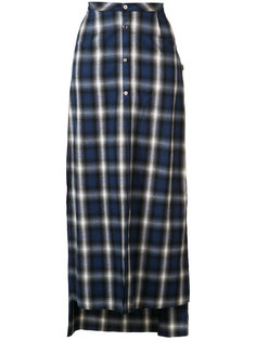 buttoned plaid skirt Amiri