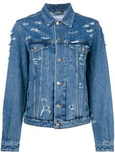 джинсовая куртка с потертой отделкой Forte Couture