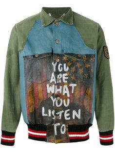 куртка-рубашка с заплатками Pihakapi