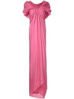 long draped woven dress Paule Ka
