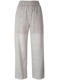 contrast lining trousers Julien David