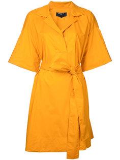 short woven wrap dress Paule Ka