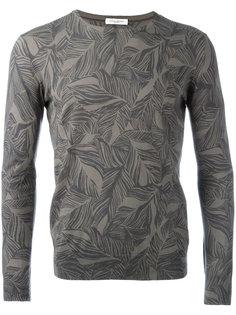 leaf printed sweatshirt Paolo Pecora