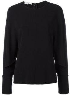 блузка с драпированными рукавами Stella McCartney