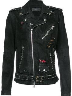 байкерская куртка с потертой отделкой Amiri
