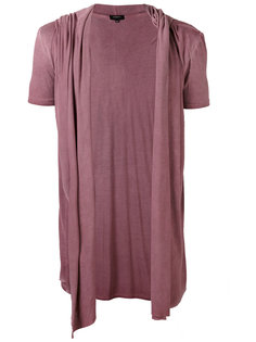 draped hooded waistcoat T-shirt Unconditional
