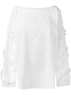 ажурная блузка с вырезом-лодочкой MSGM