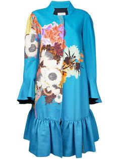 пальто с цветочным принтом  Dries Van Noten