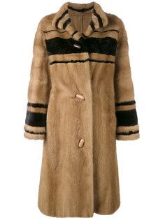 длинное пальто в полоску  Christian Dior Vintage