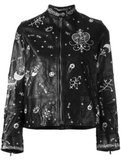 байкерская куртка с графическим принтом Valentino