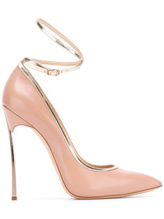 ankle strap pointed pumps Casadei