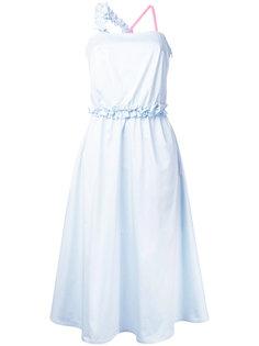 платье с контрастной бретелькой Paskal