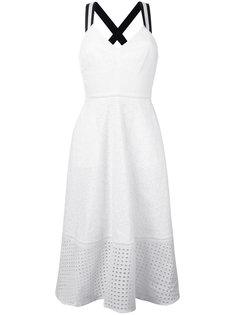приталенное платье с перфорированным подолом Markus Lupfer