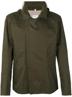 куртка с капюшоном и фото-принтом на спине Helmut Lang