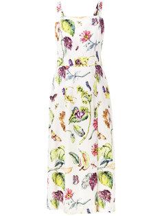 платье с растительным принтом Adam Lippes
