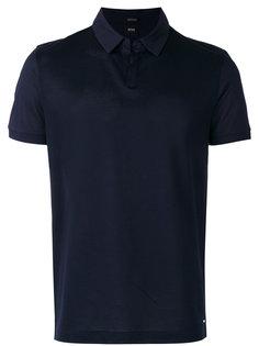 футболка-поло с открытой горловиной Boss Hugo Boss