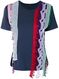 футболка с асимметричными панелями Versace